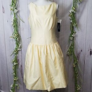 ABS Evening dress sz 10 Yellow Aline Fit Flare